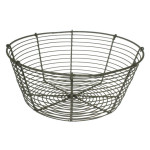 "26722 metal wire basket 9.5""D x 4""H"