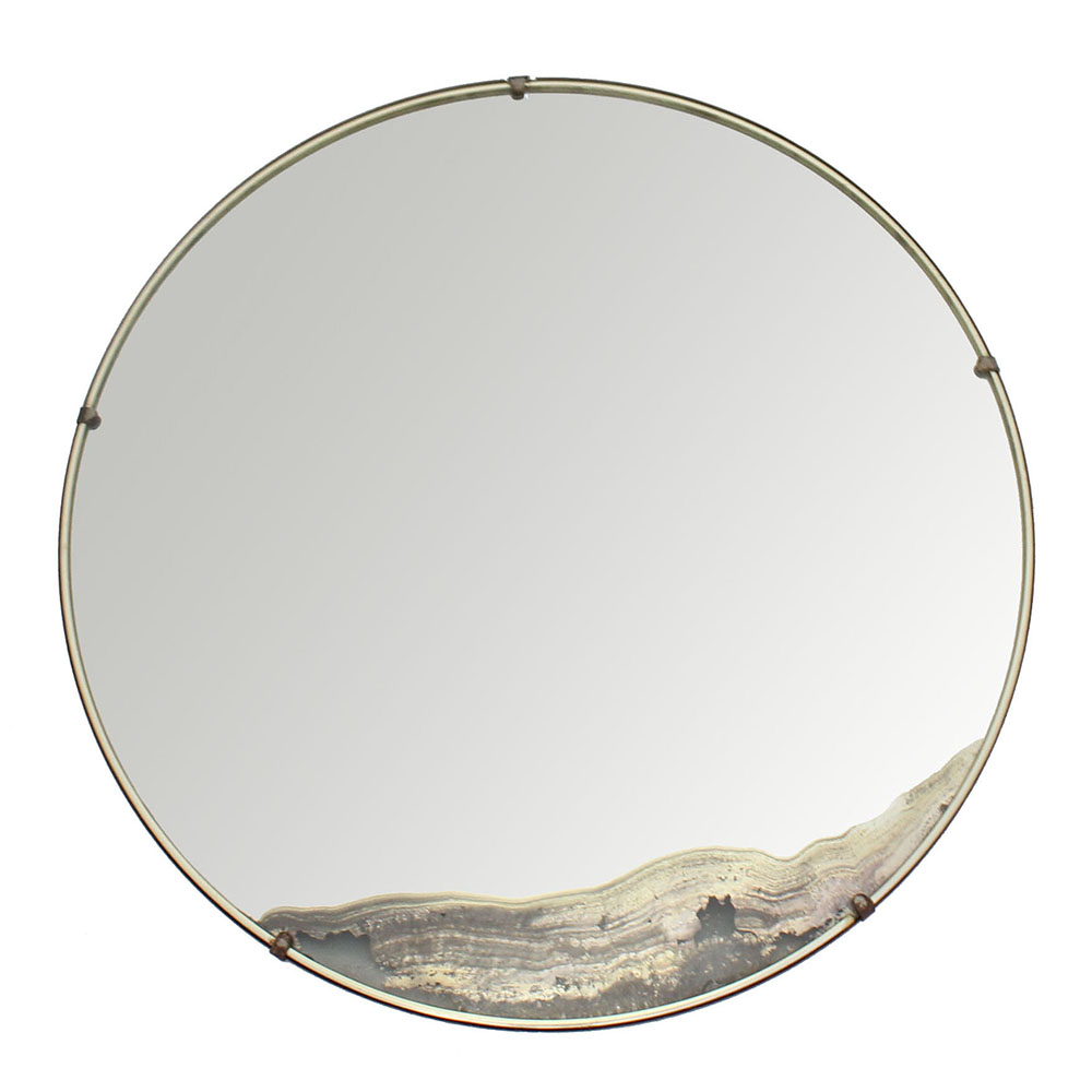 Lovely Antique round mirror YF27
