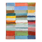 "Abstract art w/ multicolors rectangulars 8"" W x 10"" T"