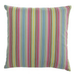 "colorful striped throw pillow 14"" W"