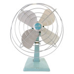 "55191 Eskimo teal fan 14"" H x 10"" W"