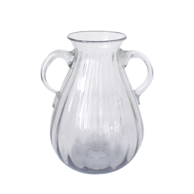 Large Glass Vase With Handles